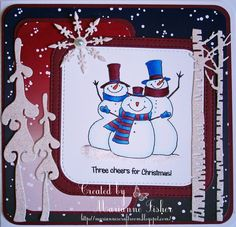 Marianne's Craftroom: Three cheers for Christmas Christmas Ideas, Christmas Cards, Christmas Ornaments, Cheers, Fisher, Claire, Charity, Third, Holiday Decor