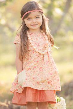 Orange Alice Apron Dress