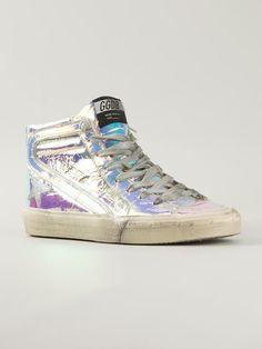Golden Goose Slide Sneakers in Metallic .