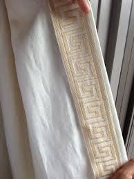 linen drapes with trim