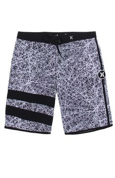 """A PacSun.com Online Exclusive!Hurley teams up with a surf legend for these men's boardshorts found at PacSun. TheJohn John Florence Phantom Boardshorts for men come with a unique print and quick drying, 4-way stretch material.Allover multi color print boardshortsHurley logo on kneeQuick drying, 4-way stretch materialVelcro back pocketReinforced tie waist, spandex fly9"""" inseamMachine washable92% recycled polyester, 8% spandexImported"""