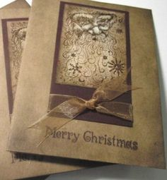 Handmade Christmas Card Making Kit for cardmaking-Rustic Santa Clause