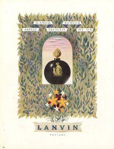 Lanvin parfums 1946  Illustrateur   Jacques Nathan