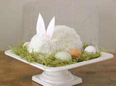 Easter Bunny Cake   Continuing Granny's Tradition   Coconut Cake