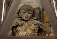 beautifully preserved child from the 1920's in Italy's Capuchin catacombs.