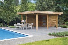 Contacteer Woodstar voor uw poolhouse, tuinhuis of carport Outdoor Furniture Sets, Outdoor Decor, Pool Houses, Garages, Attention, Home Decor, Gardens, Modern, Houses