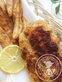 FISH & CHIPS....Skinny style....look ma...no panure!!!  avec sauce tartare allégée...à faire!!