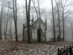 This would be a spooky place to be on Halloween!