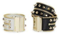 Versace Zipper and Stud Detail Cuff