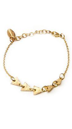 Geometric Bracelet, Gold by Brianne Faye