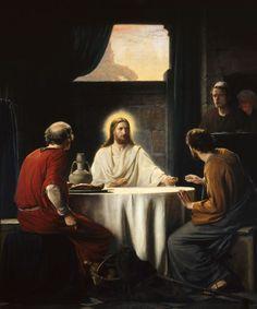 Christ Emaus (1875)- Carl Heinrich Bloch