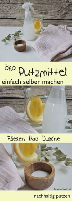 Putzmittel einfach selbermachen Cleaning agents and cleaners are easy to make yourself: DIY eco detergents are sustainable, free of chemicals and can also be used by children. The exact recipe and how best to use it. Diy Home Cleaning, Diy Cleaning Products, Cleaning Hacks, Cleaning Supplies, Diy Vanity, Genius Ideas, Cleaning Agent, Natural Make Up, Window Cleaner