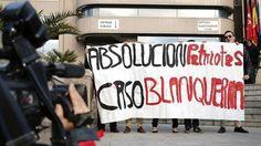 Simpatizantes de los ultras de Blanquerna se concentran ante la Audiencia Provincial de Madrid