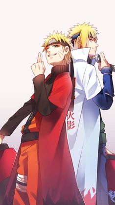 Minato and Naruto Uzumaki from the NARUTO Shippuuden anime and manga series Naruto Uzumaki Shippuden, Naruto Shippuden Sasuke, Anime Naruto, Minato E Naruto, Naruto Fan Art, Wallpaper Naruto Shippuden, Naruto Wallpaper, Gaara, Kakashi