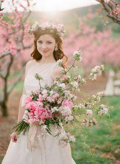 Peach Blossom Wedding Inspiration | photography by http://www.jenfariello.com (via @Elizabeth Anne Designs)