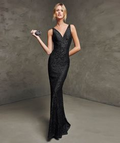 Black cocktail dress - Long dress GRACE - sleeveless  4b883cedd5