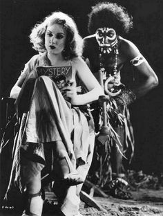 Fay Wray reading on set of King Kong 1933