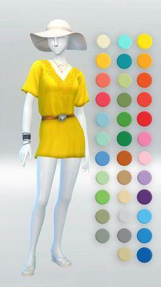 Flounce Dress at Kiwi Sims 4 via Sims 4 Updates