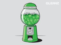 Brussels Sprouts Machine Tshirthttp://store.glennz.com/brussels-sprout-machine.html
