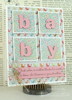 MFT February Creative Challenge - Baby by Bar - Cards and Paper Crafts at Splitcoaststampers