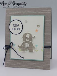 Stampin' Up! Little Elephant Baby Card – Stamp With Amy K