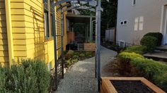 Arbor moved & gravel refreshed on path, ready for me to install edging. I have a climbing rose & a clematis for the arbor.