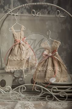 Vintage miniature dress for guest gift