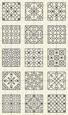 Thrilling Designing Your Own Cross Stitch Embroidery Patterns Ideas. Exhilarating Designing Your Own Cross Stitch Embroidery Patterns Ideas. Motifs Blackwork, Blackwork Cross Stitch, Blackwork Embroidery, Ribbon Embroidery, Cross Stitch Embroidery, Cross Stitch Patterns, Cross Stitching, Embroidery Designs, Quilting Designs
