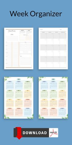 Keep your schedule with this Week Organizer template. Nothing will disturb you in concentrating on planning. You'll get a ready-to-print PDF file. You can use it with Xodo, Noteshelf, Notability and Goodnotes for your iPad or Android tablet. #weekly #planner #organizer #timetable #planners
