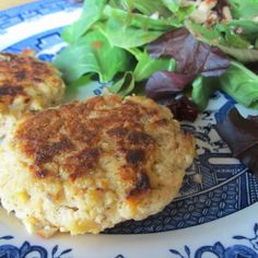 Dilled salmon patties