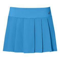 ASICS W CLUB SKORT (£35) ❤ liked on Polyvore featuring activewear, activewear skirts, blue skort, sport skort, long skorts, asics and golf skirts