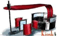 Headphone Kiosk Design: drawn and rendered in Google Sketchup