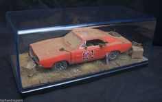 1969 Dodge Charger Dukes of Hazzard General Lee Weathered 1/43 Custom Diorama #autoworld #1969DodgeCharger