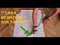 Cara Memotong Rok Payung Yang Benar - YouTube Pants Pattern Free, Refashion Dress, Sewing Techniques, Tips, Youtube, Baby Dresses, Women, Blouse, Clothes