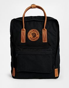 Fjallraven+Kanken+No+2+Backpack+with+Leather+Handles+in+Black