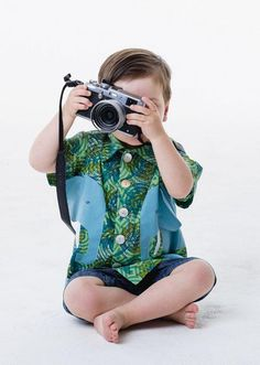Say cheese in an adorable elephant shirt by Little Goodall. #etsykids