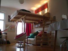 hochbett selber bauen mit materialliste und bauanleitung for the home pinterest. Black Bedroom Furniture Sets. Home Design Ideas