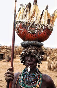 Dassanech woman, Omo Valley, Ethiopia, by Meritxell Mena.