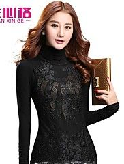 Women's Casual/Lace Micro-elastic Long Sleeve R... – AUD $ 149.79