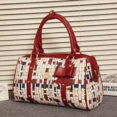 Bow Zipper Handbag