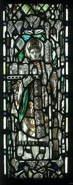 Saint Chad by Christopher W. Whall, England, ca. 1901-1910. l Victoria and Albert Museum
