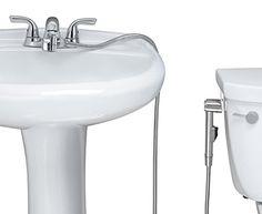 Aquaus Warm Water Handheld / Hand Held Bidet for Faucet with Stainless Steel Hose - Hand held bidet