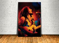 Oil on canvas painting by deSotogi of Bob Marley entitled ...
