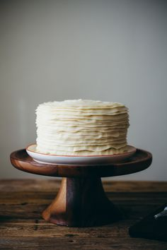 Cardamom Vanilla Cake with Strawberry Filling and Cream Cheese Frosting | My Name Is Yeh