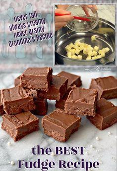 Holiday Desserts, Holiday Baking, Holiday Recipes, Christmas Baking, Candy Recipes, Sweet Recipes, Dessert Recipes, Best Fudge Recipe, Easy Creamy Fudge Recipe