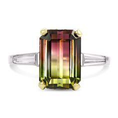 Custom Watermelon Tourmaline Ring | Wixon Jewelers