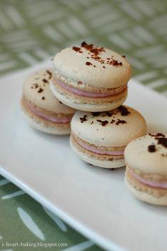 i heart baking!: strawberry-lemonade macarons