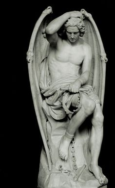 """So what do we know about the devil / satan/ beezulbub/ lucifer/ The Prince of lies/ The prince of Darkness? It is taught that Lucifer is the creator of all things evil. Some say that Lucifer's name was never Lucifer because """"morning star"""" aka. Angels Among Us, Angels And Demons, Fallen Angels, Satan, Statue Ange, Bild Tattoos, Ange Demon, Cemetery Art, Religious Art"""