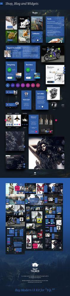 Modern UI Kit by NightThemes on @creativemarket