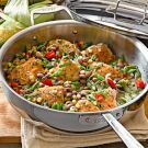 Summer Braised Chicken and Vegetables with Good Mother Stallard Beans